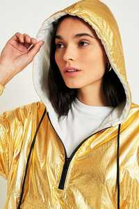 Adidas Originals Shiny Nylon Golden Hooded Windbreaker 2