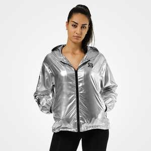 Better Bodies Nolita Jacket Shiny Silver Hooded Windbreaker 2