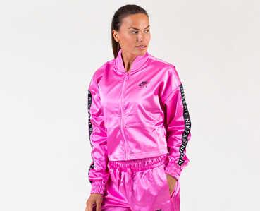 Nike Womens Pink Shiny Tracksuit Jacket and Pants Set 3